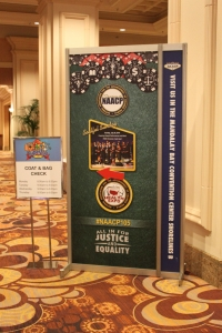 NAACP Show 2014 Information Sign Mandalay Bay Convention Center, Las Vegas Nevada
