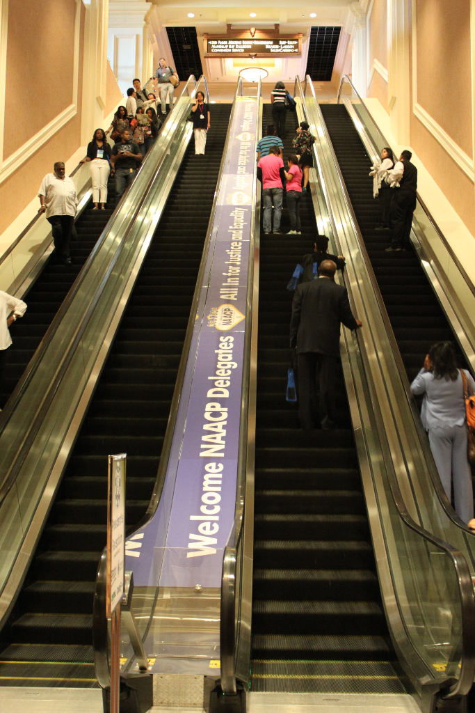 NAACP Show 2014 Escalators Mandalay Bay Convention Center, Las Vegas Nevada