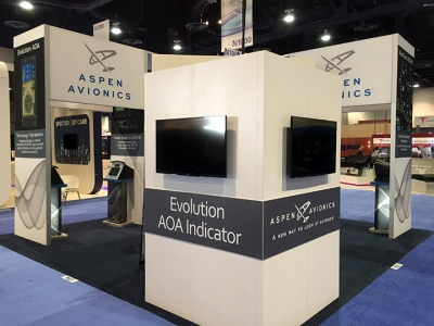 NBAA 2015, Aspen Avionics 20x20 Island Exhibit