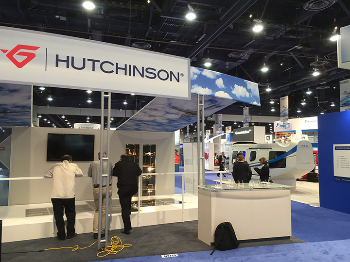 NBAA 2015, Hutchinson 30x30 Island Exhibit