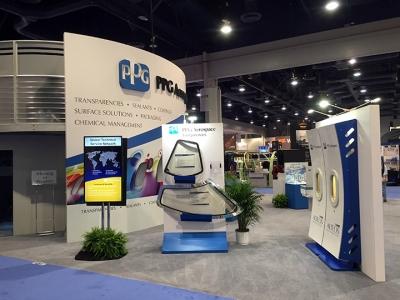 NBAA 2015, PPG Aerospace 40x50 Island Exhibit