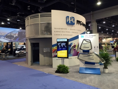 NBAA 2015, PPG Aerospace 40x50 Island Exhibit