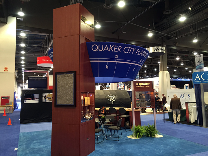 NBAA 2015, Quaker City Plating QCP 20x20 Island Exhibit