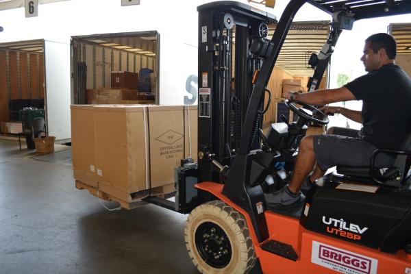 Forklift loading