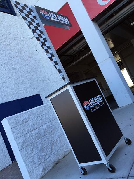 NASCAR Kiosk Cart