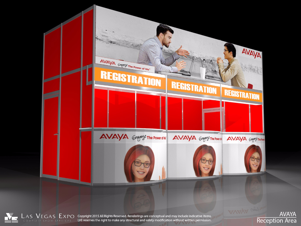 Standard Registration Back-lit Counter