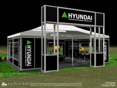 Hyundai Outside Display Tent