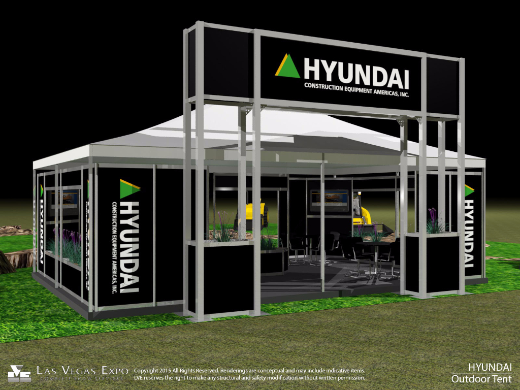 Hyundai Outside Display Tent