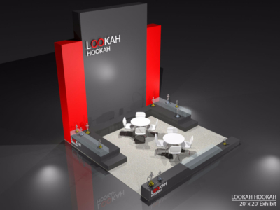 Lookah Hookah 20x20 Exhibit