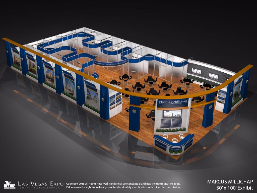 Marcus & Millicap 50x100 Exhibit Design