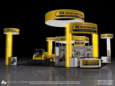 New Holland 40x40 Exhibit Design