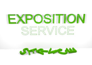 Where did the word Service go in Exposition Service?